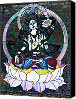Lotus Art Canvas Prints - Devi Shakti Goddess Canvas Print by Karon Melillo DeVega