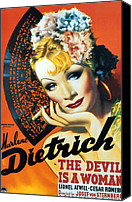 1935 Movies Canvas Prints - Devil Is A Woman, The, Marlene Canvas Print by Everett