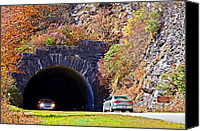 Susan Leggett Canvas Prints - Devils Courthouse Tunnel Canvas Print by Susan Leggett