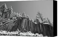 White Mountains Canvas Prints - Devils Postpile - Frozen columns of lava Canvas Print by Christine Till