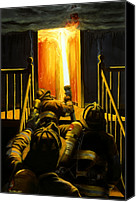 Flames Canvas Prints - Devils Stairway Canvas Print by Paul Walsh