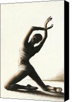 Dancer Painting Canvas Prints - Devotion to Dance Canvas Print by Richard Young
