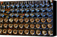 Typewriter Keys Photo Canvas Prints - Dfghjk Canvas Print by Joel Witmeyer