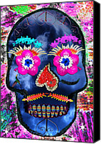 Photoart Canvas Prints - Dia de los Muertos Canvas Print by Dolly Sanchez