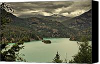 Alpine Canvas Prints - Diablo Lake - Le grand seigneur of North Cascades National Park WA USA Canvas Print by Christine Till