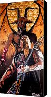 Heavy Metal Canvas Prints - Diabolus in Musica  Canvas Print by Al  Molina