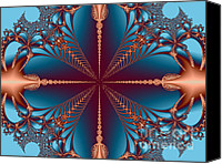 Merging Digital Art Canvas Prints - Diamond Rio Cross Roads Canvas Print by Dana Haynes