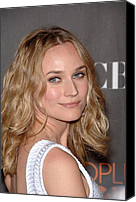 Nokia Theatre Canvas Prints - Diane Kruger At Arrivals For Peoples Canvas Print by Everett