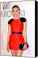 Alice Tully Hall At Lincoln Center Canvas Prints - Diane Kruger Wearing A Jason Wu Dress Canvas Print by Everett