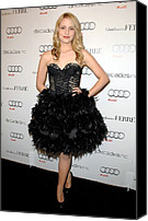 Golden Globe Canvas Prints - Dianna Agron At Arrivals For Audi Canvas Print by Everett