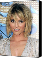 Dianna Agron Canvas Prints - Dianna Agron At Arrivals For Glee The Canvas Print by Everett