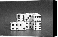 Gambling Canvas Prints - Dice Cubes II Canvas Print by Tom Mc Nemar