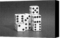 Gambling Canvas Prints - Dice Cubes III Canvas Print by Tom Mc Nemar