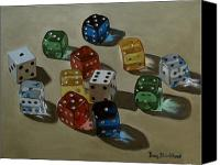 Gambling Canvas Prints - Dice Canvas Print by Doug Strickland