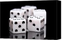 Gambling Canvas Prints - Dice I Canvas Print by Tom Mc Nemar