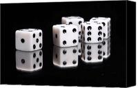 Gambling Canvas Prints - Dice II Canvas Print by Tom Mc Nemar