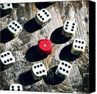 Six Canvas Prints - Dice Canvas Print by Joana Kruse