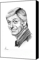 Van Dyke Canvas Prints - Dick Van Dyke Canvas Print by Murphy Elliott
