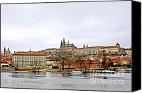 Vltava Canvas Prints - Die Moldau - Prague Canvas Print by Christine Till