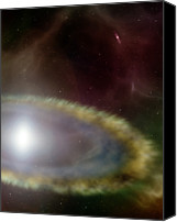 Astronomy Canvas Prints - Digital Illustration Of A Supernova Canvas Print by Stockbyte