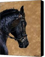 Dressage Canvas Prints - Dignified Canvas Print by Loreen Pantaleone