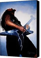 Heavy Metal Canvas Prints - Dimebag is GD Electric Canvas Print by Al  Molina