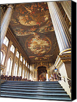 Naval College Canvas Prints - Dining Hall at Royal Naval College Canvas Print by Anna Villarreal Garbis