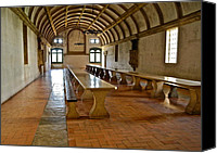 Dining Hall Canvas Prints - Dining Hall in Monastery  Canvas Print by Kirsten Giving