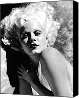 Harlow Canvas Prints - Dinner At Eight, Jean Harlow, 1933 Canvas Print by Everett