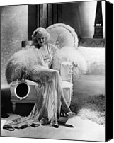 Harlow Canvas Prints - Dinner At Eight, Jean Harlow Canvas Print by Everett