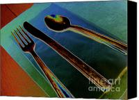Tables Canvas Prints - Dinner is Served Canvas Print by Elizabeth Hoskinson
