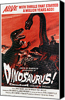 1960 Movies Canvas Prints - Dinosaurs, 1960 Canvas Print by Everett