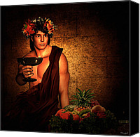 Bacchus Canvas Prints - Dionysus Canvas Print by Lourry Legarde