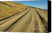 Country Dirt Roads Photo Canvas Prints - Dirt road winding Canvas Print by Sami Sarkis