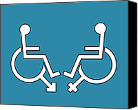 Talking Canvas Prints - Disability Sexuality, Conceptual Artwork Canvas Print by Stephen Wood
