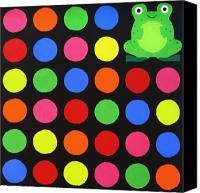 Fun Frog Canvas Prints - Discofrog Canvas Print by Oliver Johnston