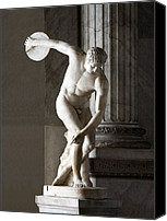Sports Photo Canvas Prints - Discus Thrower Statue Canvas Print by Sheila Terry
