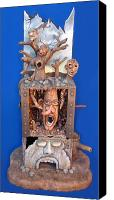 Scary Sculpture Canvas Prints - Disgruntled Again Canvas Print by Stuart Swartz