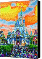 Disneyland Canvas Prints - Disney at Fifty Canvas Print by David Lee Thompson