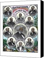 United States Drawings Canvas Prints - Distinguished Colored Men Canvas Print by War Is Hell Store