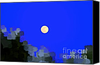 Man In The Moon Canvas Prints - Distortion Canvas Print by Gwyn Newcombe
