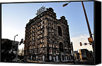 Hotel Digital Art Canvas Prints - Divine Lorraine Hotel Canvas Print by Bill Cannon