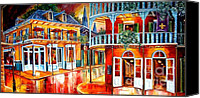 Oil Lamp Painting Canvas Prints - Divine New Orleans Canvas Print by Diane Millsap