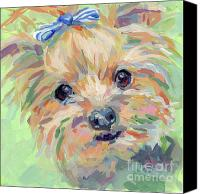 Terrier Canvas Prints - Dixie Canvas Print by Kimberly Santini