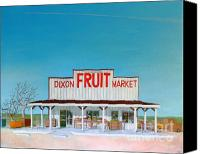 Fruit Markets Canvas Prints - Dixon Fruit Market 1992 Canvas Print by Wingsdomain Art and Photography