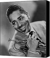 Bandleader Canvas Prints - Dizzy Gillespie 1917-1993, African Canvas Print by Everett