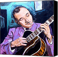 Music Canvas Prints - Django Reinhardt Canvas Print by Vincent Thibodeaux