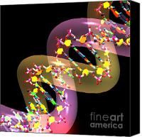 Science Lab Digital Art Canvas Prints - Dna 38 Canvas Print by Russell Kightley