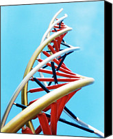 Unnatural Canvas Prints - Dna Sculpture Canvas Print by Victor Habbick Visions
