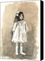 Tomboy Canvas Prints - Do I Have To Wear A Dress Canvas Print by Arline Wagner